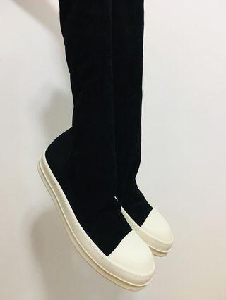 Rick Owens sueded leather sock sneakers size 42 brand new