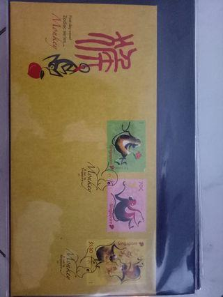 🚚 zodiac FDC with stamp