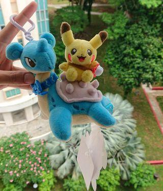 Pokemon Pikachu Bag Charm Riding Lapras Keychain not x fragment