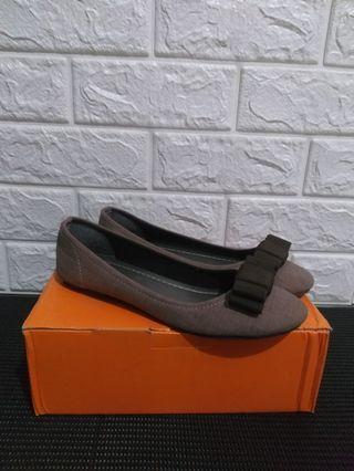 Niel - Brown Ribbon Flat Shoes