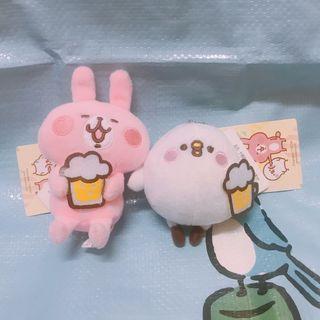 【台灣直送】Kanahei 卡娜赫拉 粉紅兔兔 P助 啤酒 吊飾 鎖匙扣