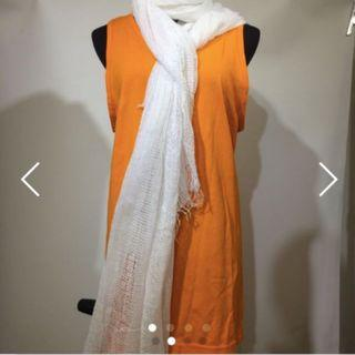Clearance $10 White scarf 白色頸巾圍巾