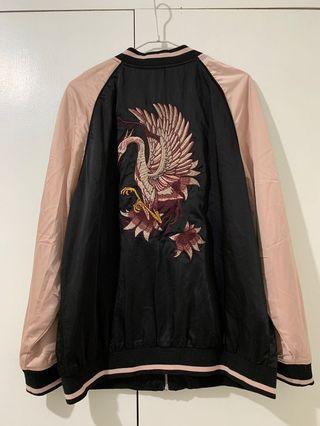 Cotton On Embroidered Bomber Jacket