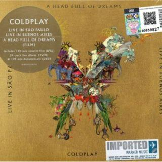 Coldplay Live In Buenos Aires A Head Full of Dreams Imported CD+2DVD