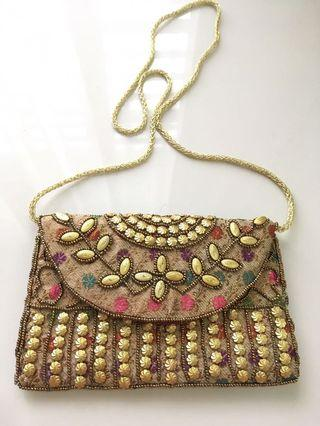 Beaded bag from India