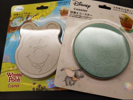 🚚 Disney 小飛象 小熊維尼 硅藻土杯墊