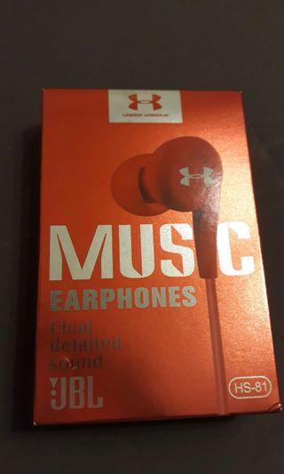UA耳機紅色