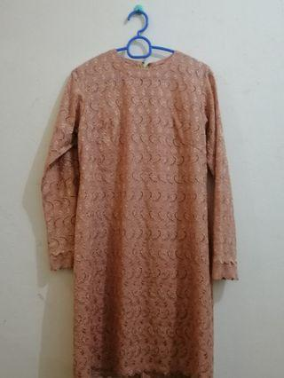 Baju Kurung Moden Lace Top Only