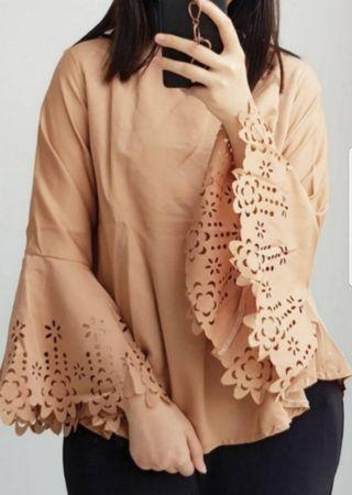 Lace Brown Top