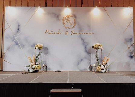 Customised stage backdrop decoration for hotels and venues