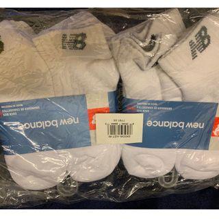 Brand New New Balance Sports Socks (1 Lot, total 12 pairs) 全新 New Balabce 運動船襪12對。中碼。