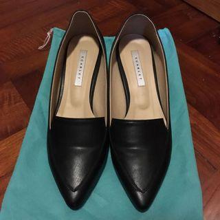 韓國黑色高踭鞋