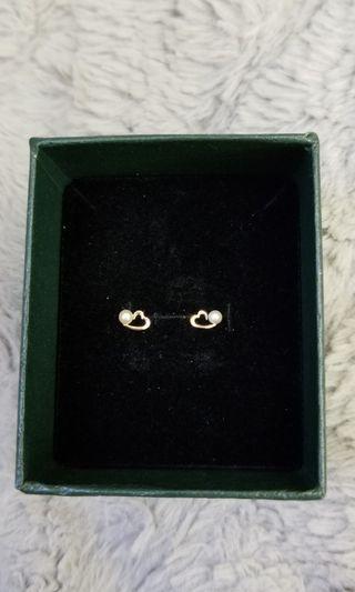 日本K金珍珠耳環