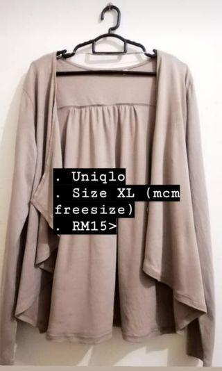 UNIQLO Cardigan Nude Brown