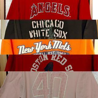 5 MLB T-shirts