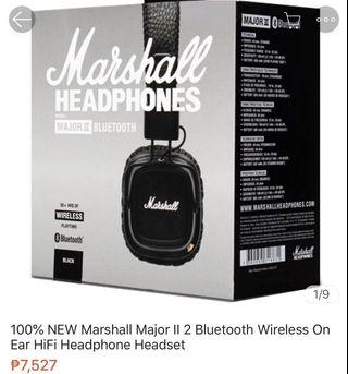 Marshall wireless bluetooth headset