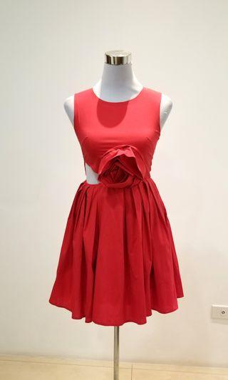 valentino insp red flower dress