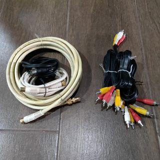 TV Coaxial Cables & Audio Video Composite RCA Cables