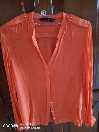 Zara orange shirt