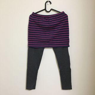 Lativ假兩件式棉質裙+內搭褲 L號