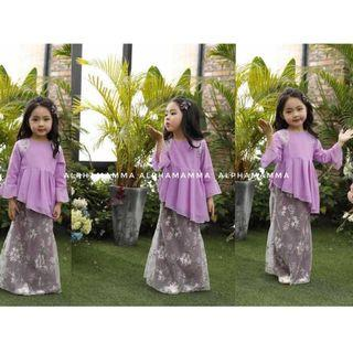 Ready Now #221283 Flower Embroidered Mesh Kurung