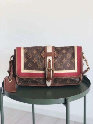 真品LV全球限量Louis Vuitton絕版款Tisse Rayure包