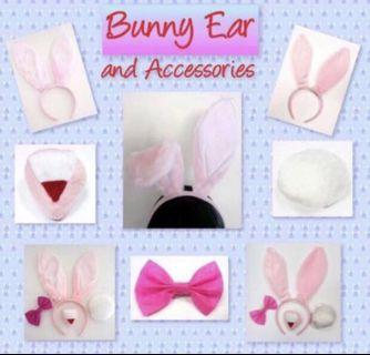 < CATZ > Bunny Headband Set Bunny Ear Bunny Set Party Accessories Dressed Up Party Items Props