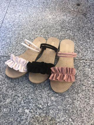 #女款2穿平底涼拖鞋