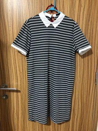 🚚 Striped Grey Dress