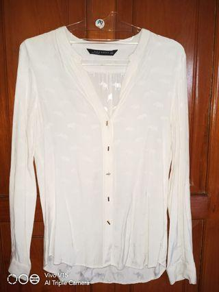 Zara white elephant motif shirt