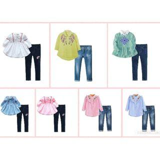 CLEARANCE 🎉🎉 2Pcs Jeans Set