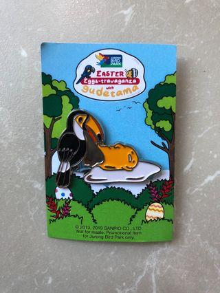 Easter Bird Gudetama Pin