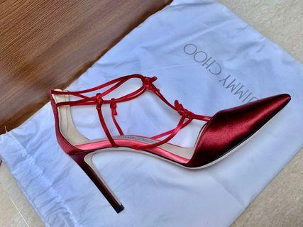 Jimmy Choo burgundy red heels size 37