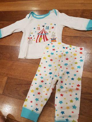 Mothercare Baby Pyjamas (White)