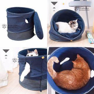 🎏多種變法折疊式貓帳篷🐈連棉枕