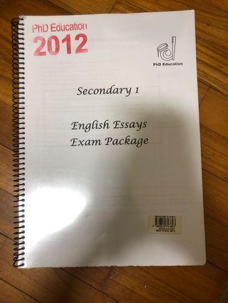 Sec 1 English Essay pack