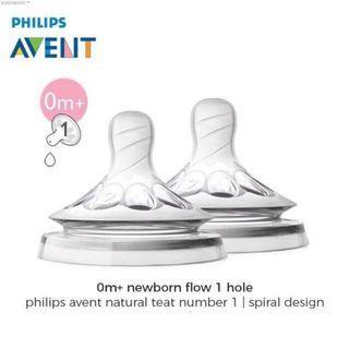 Philips Avent Teat Natural Newborn / Dot Botol Avent Natural 0m+ / Dot Philips Avent Natural 0m+