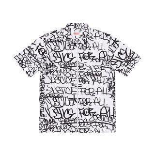 Supreme CDG Graphic Shirt 滿版 短袖襯衫 全新現貨在台 L號