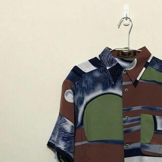 襯衫 復古襯衫 花襯衫 幾何