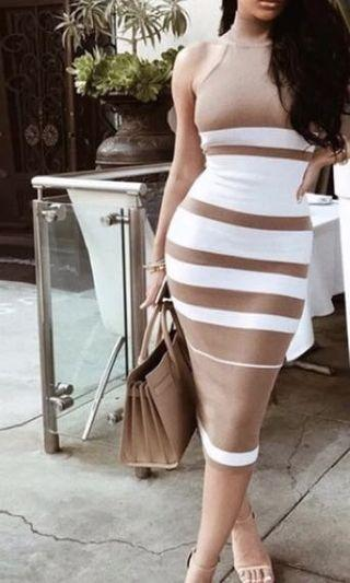 Bandage dress new halter medium