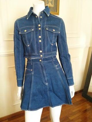 Denim Jacket with Matching Skirt