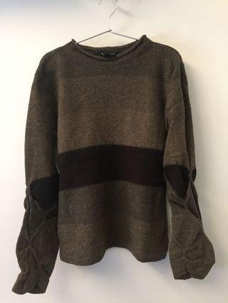 (Made in italy)Emporio armani wool sweater(100% virgin wool)
