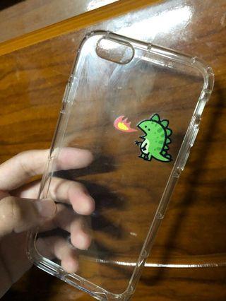 🚚 Iphone6小恐龍透明手機殼