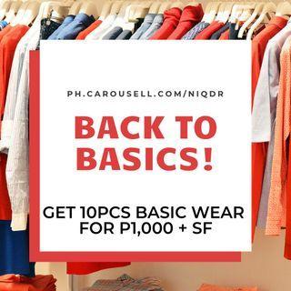 Basics Clothing Haul for P1,000 + SF