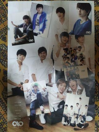 Infinite Official 2012 photocards + sticker + poster