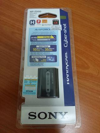Sony Np FH50 rechargable battery handicam cybershot
