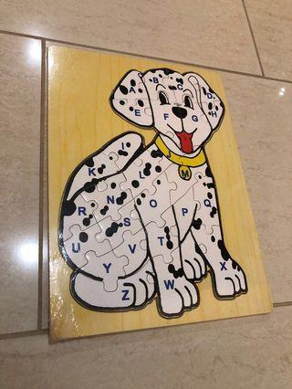 Wooden alphabet Dalmatian doggy puzzle #ENDGAMEyourEXCESS