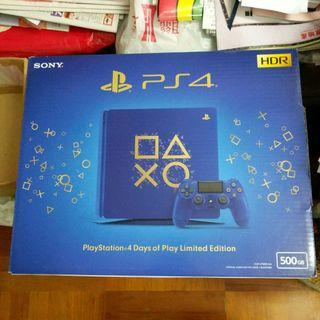 PS4 Days of Play Edition 500GB 連 PSN 賬