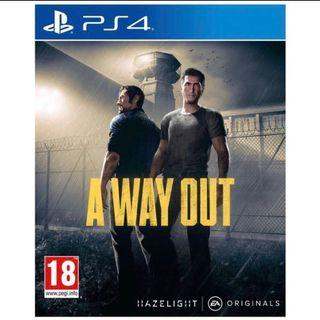 PS4 A way out game 90%new