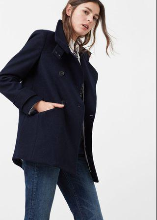 Mango MNG double breasted wool coat